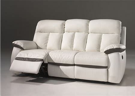 canape cuir relax electrique 3 places canap 233 2 places 3 places relax 233 lectrique en cuir blanc