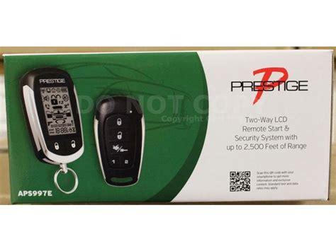audiovox prestige aps997e 2 way lcd remote start alarm system replaces aps997c newegg
