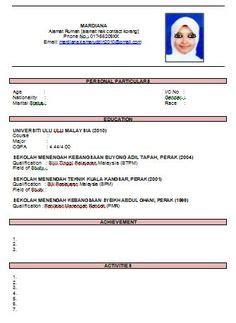contoh resume bahasa melayu  baik pic contoh resume
