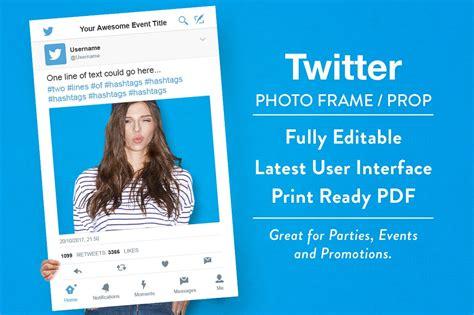 twitter photo frame prop product mockups creative market