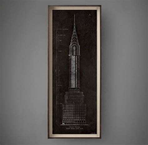 Chrysler Building Blueprint by 1000 Images About Custom Vintage Map Prints More On