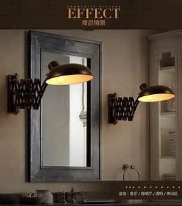 Applique Salle De Bain Noire : loft vintage t lescopique applique murale e27 1 salle de bains miroir escamotable lumi re noir ~ Teatrodelosmanantiales.com Idées de Décoration