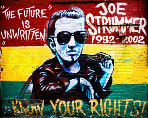 joe strummer mural the division ten years remembering joe strummer