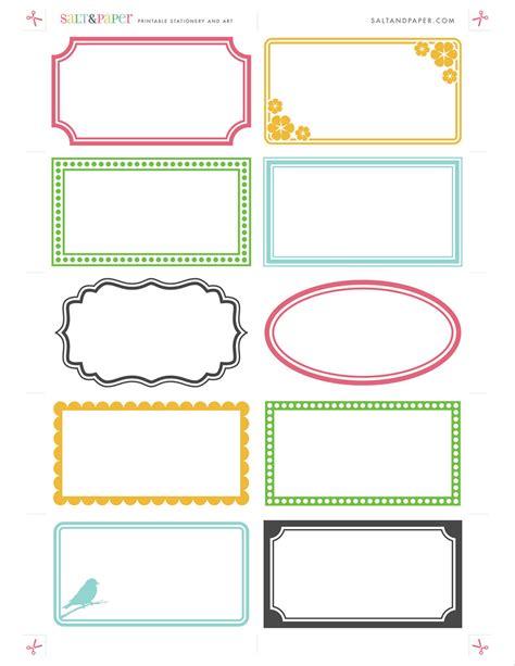 printable labels  saltandpapercom   high