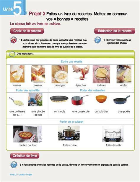 recette de cuisine anglais projet la classe crée un livre de recettes par deux