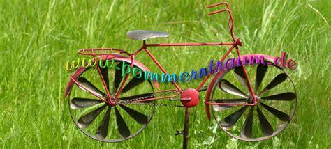 Gartendeko Fahrrad by Windspiel Windrad Metall Gartendeko Rotes Fahrrad Herrenrad