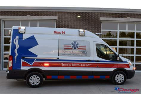 type ii ford transit ambulance sold  town country ems