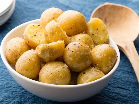 how to boil potatoes boiled potatoes with butter recipe food network kitchen food network