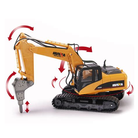 Harga Rc Excavator Huina huina 560 2 4g 1 12 16 channels metal rc excavator broken