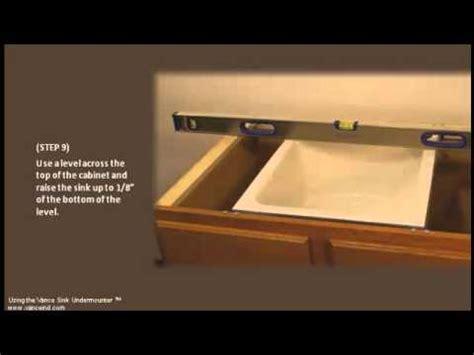 EASY Undermount Sink Installation   YouTube
