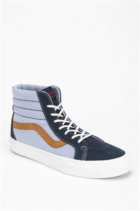High Top by Lyst Vans Sk8hi Reissue Womens High Top Sneaker In Blue