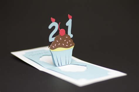 creative pop up cards templates free detailed cupcake pop up card template