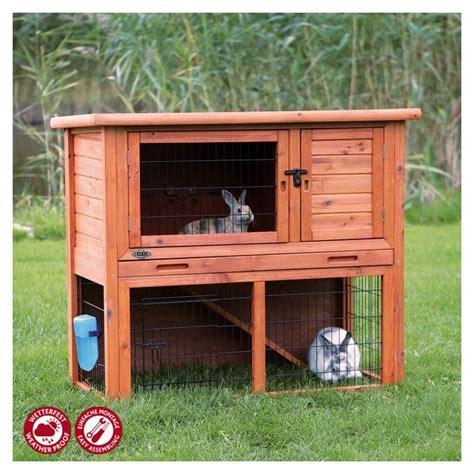kaninchenstall mit freigehege trixie natura kaninchenstall mit freigehege 104 bei zooroyal