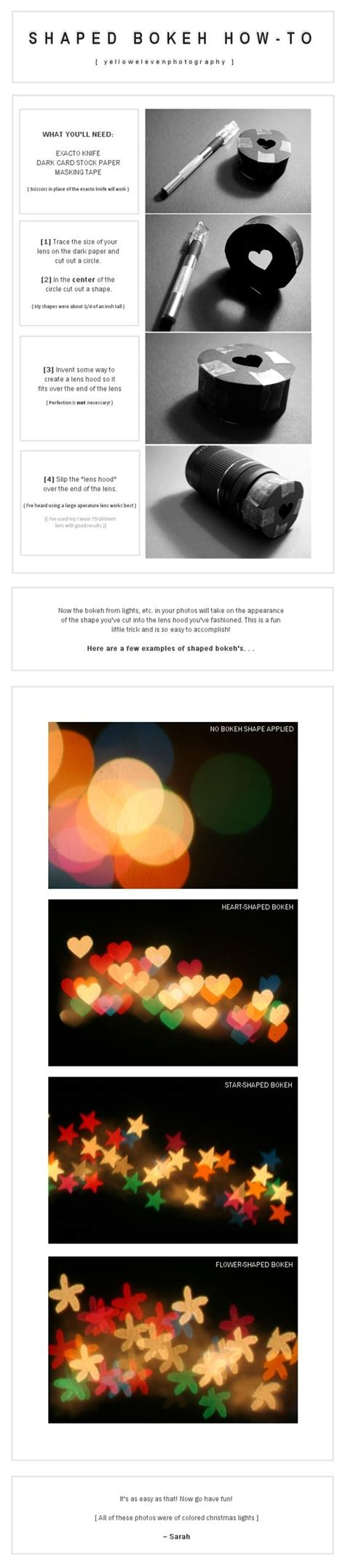 how to create bokeh in your images photography tips