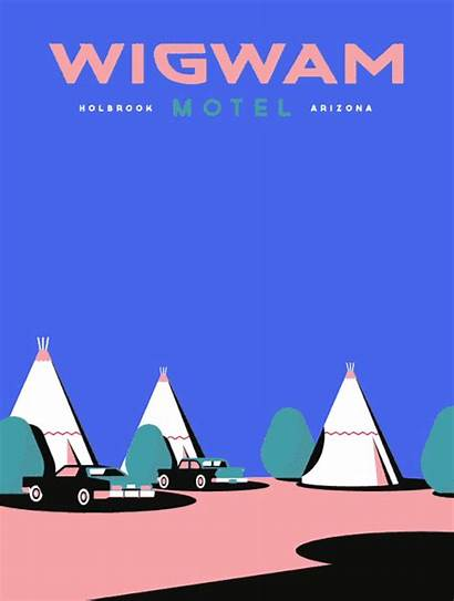 Travel Animated Posters Behance Project