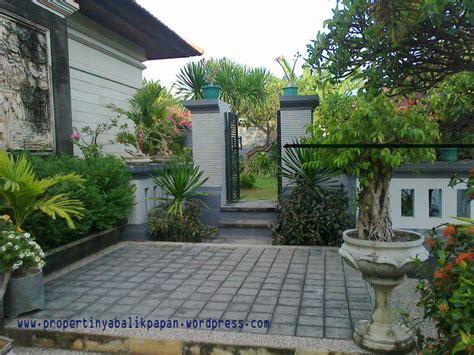 halaman rumah asri minimalis  sejuk properti balikpapan
