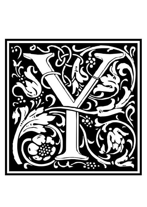 Kleurplaat Y by Kleurplaat Decoratief Alfabet Y Afb 28642 Images