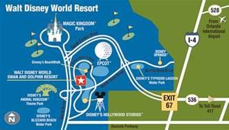 Walt Disney World Resort Hotel Map