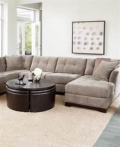 elliot fabric sectional living room furniture collection With elliot sectional sofa macy s
