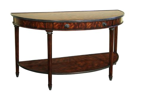 console table mahogany bowfront mahogany console table with brass accents 2443