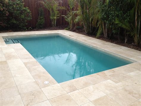 classic travertine tiles filled