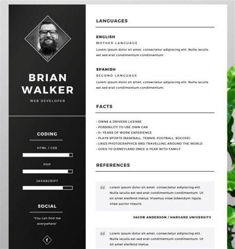 Free Photoshop Resume Templates 130 new fashion resume cv templates for free