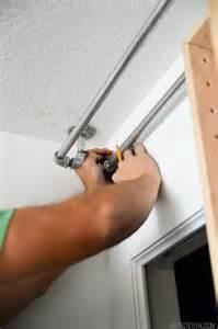 Bypass Cabinet Door Hardware by Diy Bypass Barn Doors Curtain Rods Closet Barn Doors