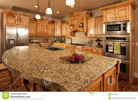 modern home kitchen  center island stock image image