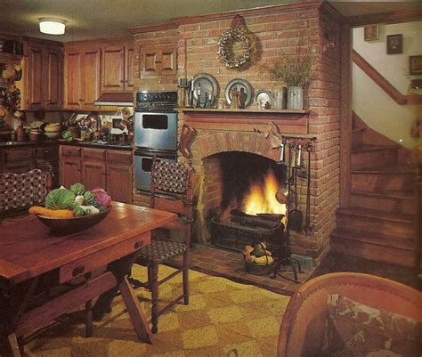 Kitchen Fireplace Design Ideas by This Kitchen Especially The Fireplace