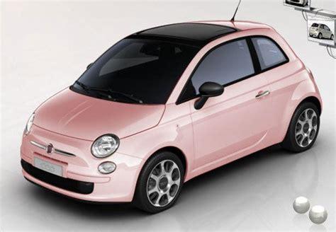 fiat  pink rose cute car  style  delicate