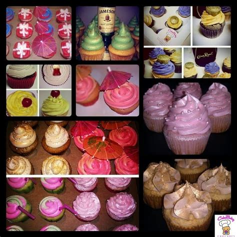 alcohol infused cupcakes ideas  pinterest