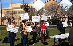 ASU students, faculty join nationwide rally against Trump ...