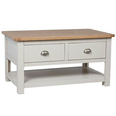 Do not contact me with unsolicited services or offers. Grey Oak Coffee Table / Storage Coffee Table With Drawers & Shelf / Sussex | eBay