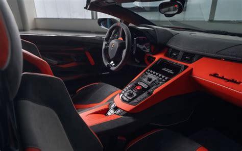 lamborghini aventador svj roadster interior lamborghini aventador svj 63 roadster 2020 4k interior wallpaper hd car wallpapers id 13067