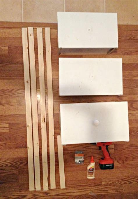 diy ladder shelf   repurposed drawers shelves