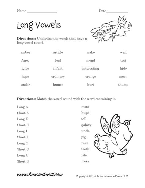 Long U Worksheet  Checks Worksheet