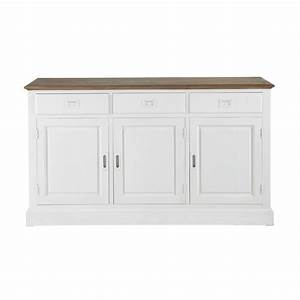 Buffet 150 Cm : aparador blanco de madera de paulonia an 150 cm leandre maisons du monde ~ Indierocktalk.com Haus und Dekorationen