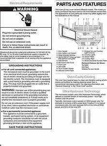 Whirlpool Microwave Development Gh9177 Microwave Oven User