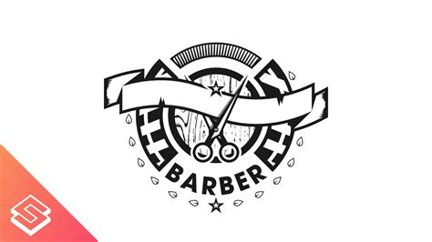Barber Logo Design Time Lapse In Inkscape