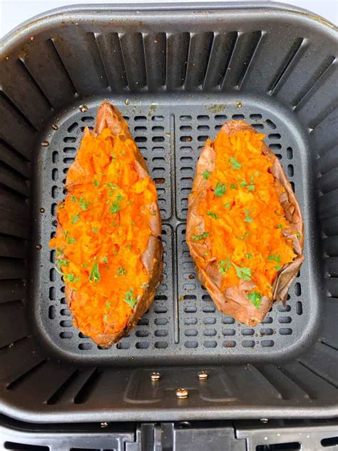 fryer air sweet potatoes baked easy loaded recipe recipes parsley