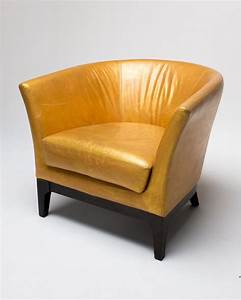 Ch051 gold hue leather chair home hideaways and decor for Gold leather chair