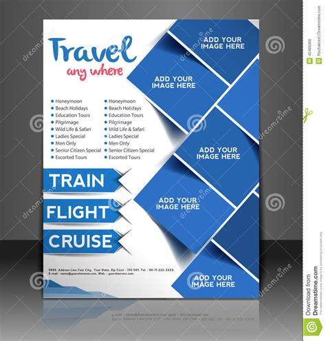 poster design template travel center flyer design stock vector illustration of abstract 40489366