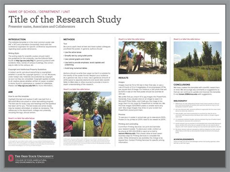 poster template powerpoint   scientific research