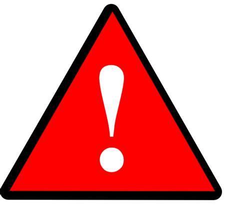 black red white warning  clip art  clkercom vector