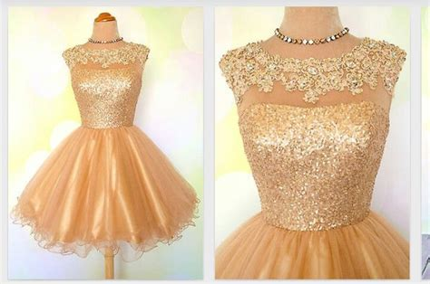 Gold Sweet 16 Party Dress