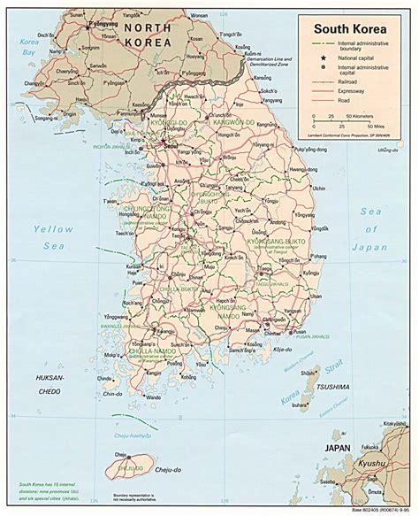 map  south korea