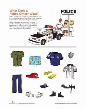 police officer lesson plans for preschool community helpers officer worksheet education 865