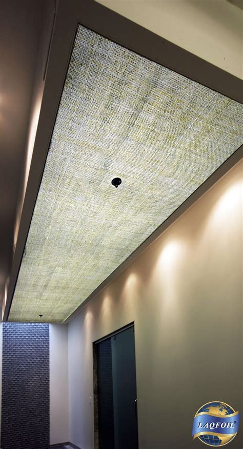 fluorescent light covers we installed laqfoil stretch ceiling as light diffuser