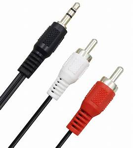 Headphone Jack Plug 3 5mm Aux In To 2 Red White Rca Stereo