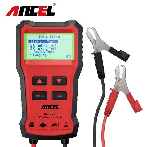 Car battery testers come in a wide range of prices so you need to find out which one you can afford but still comes with all the features you're looking for. ANCEL BST100 Car Battery Charger Tester Analyzer 12V ...